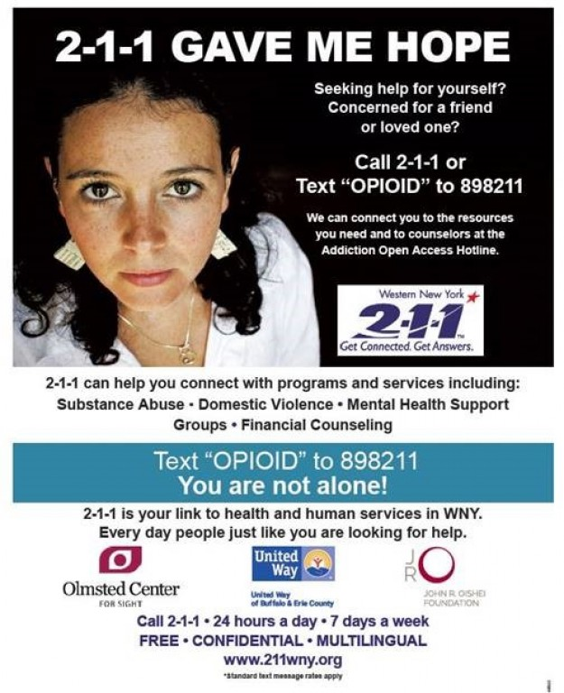 2-1-1WNY Now Offers Texting for 2-1-1 & Opioid Text Program